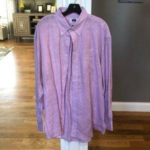 Linen Lavender Men's Dress Shirt
